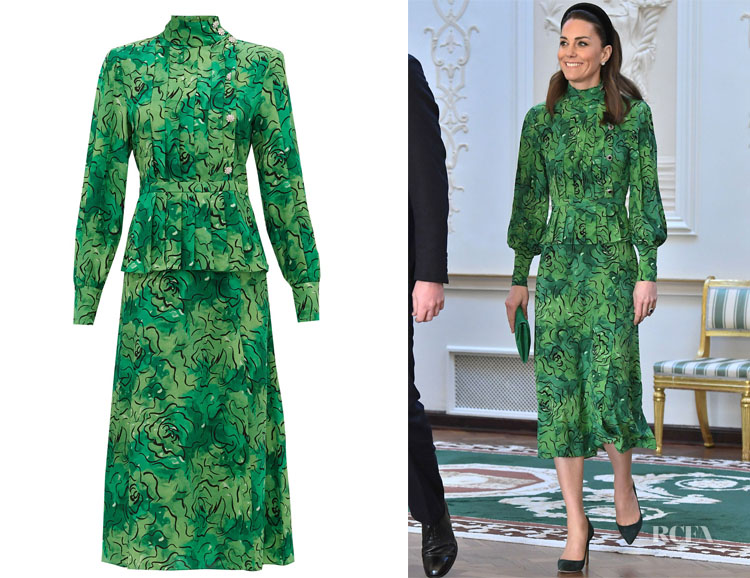 Catherine, Duchess of Cambridge's Alessandra Rich Print Peplum Dress
