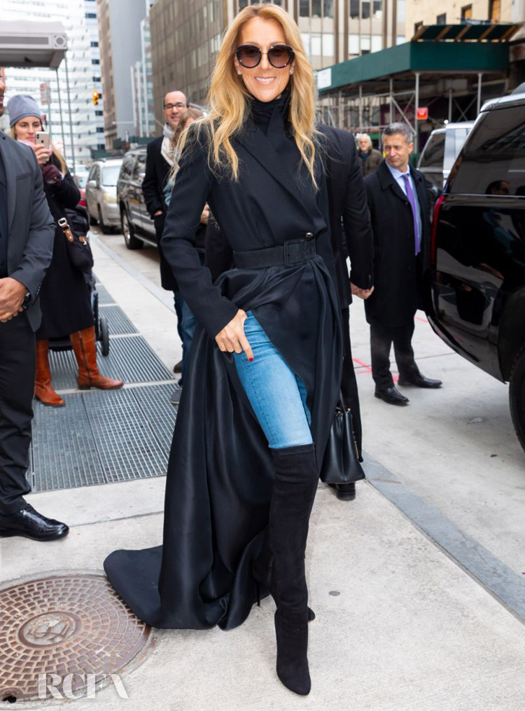Celine Dion Wore Brandon Maxwell Out In New York City