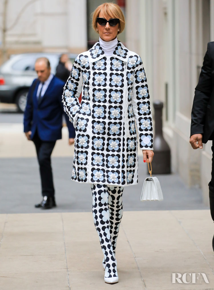 Celine Dion Wore Moncler 8 Richard Quinn Flower Coat Out In New York City