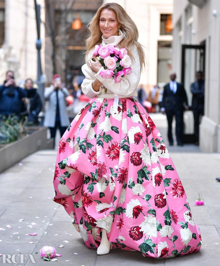 Celine Dion Wore Oscar de la Renta Out In New York City