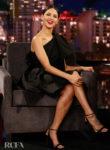 Eiza González Wore Carolina Herrera On Jimmy Kimmel Live!