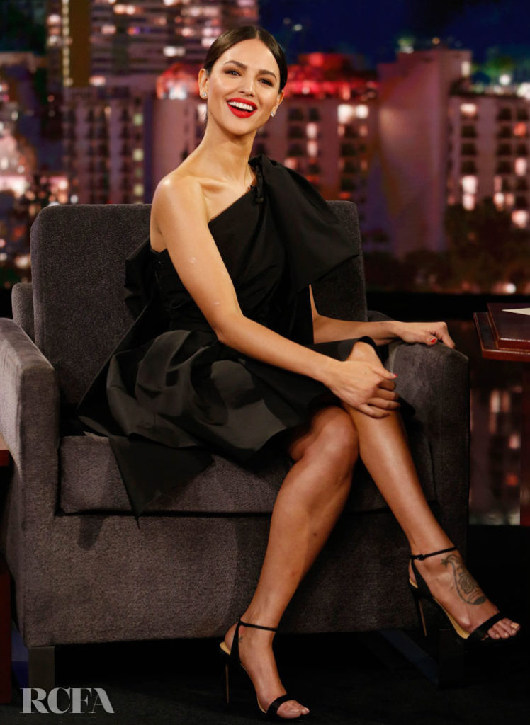 Eiza Gonzalez Wore Carolina Herrera On Jimmy Kimmel Live!