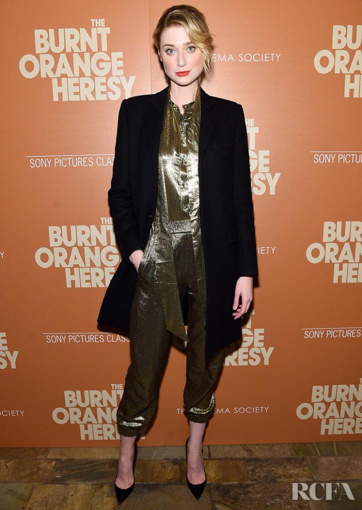 Elizabeth Debicki Wore Saint Laurent To The 'The Burnt Orange Heresy' New York Screening