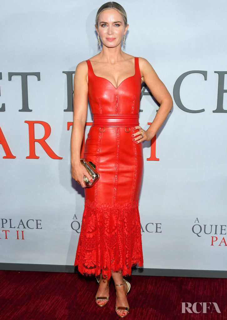 Emily Blunt Wore Alexander McQueen To The World Premiere of 'A Quiet Place Part II'
