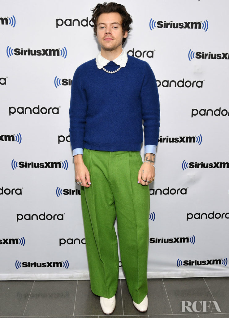 Harry Styles Wore Gucci For His SiriusXM Studios Interview