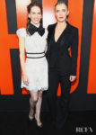 Hilary Swank Wore Elie Saab & Betty Gilpin Wore Altuzarra For 'The Hunt' LA Premiere
