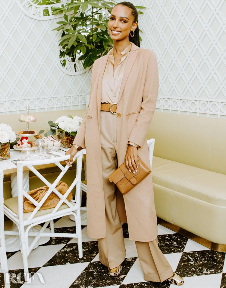Jasmine Tookes Embraces Neutral Tones For The Senreve Brunch