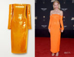 Kate Bosworth's Sally Lapointe Off-The-Shoulder Sequined Dress