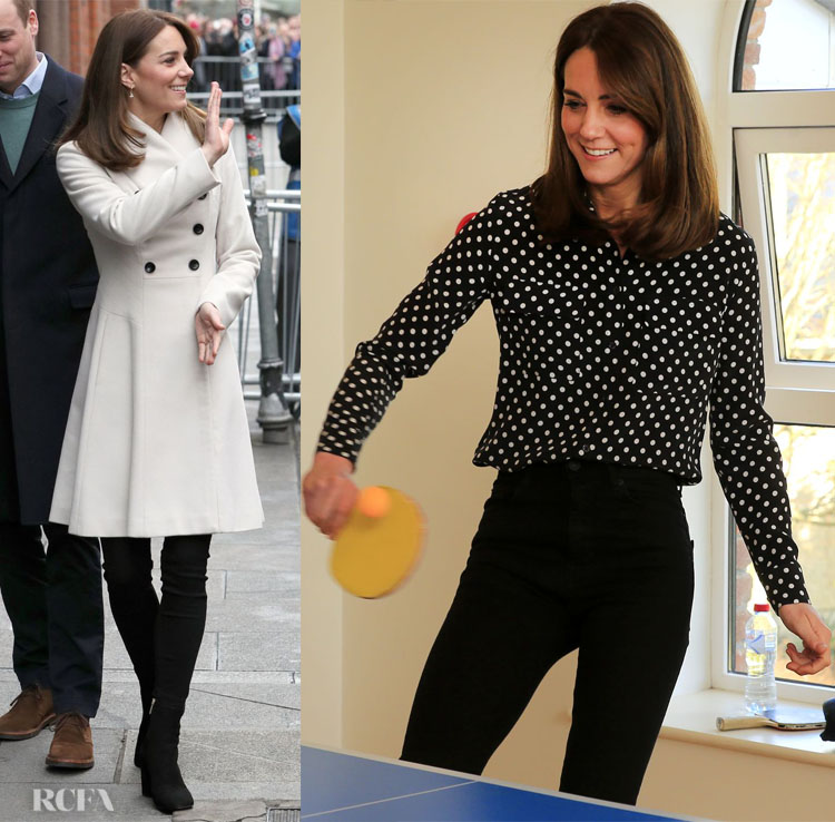 Kate Middleton in Reiss and Equipment On Day Two & Three Of The Royal Ireland Tour
