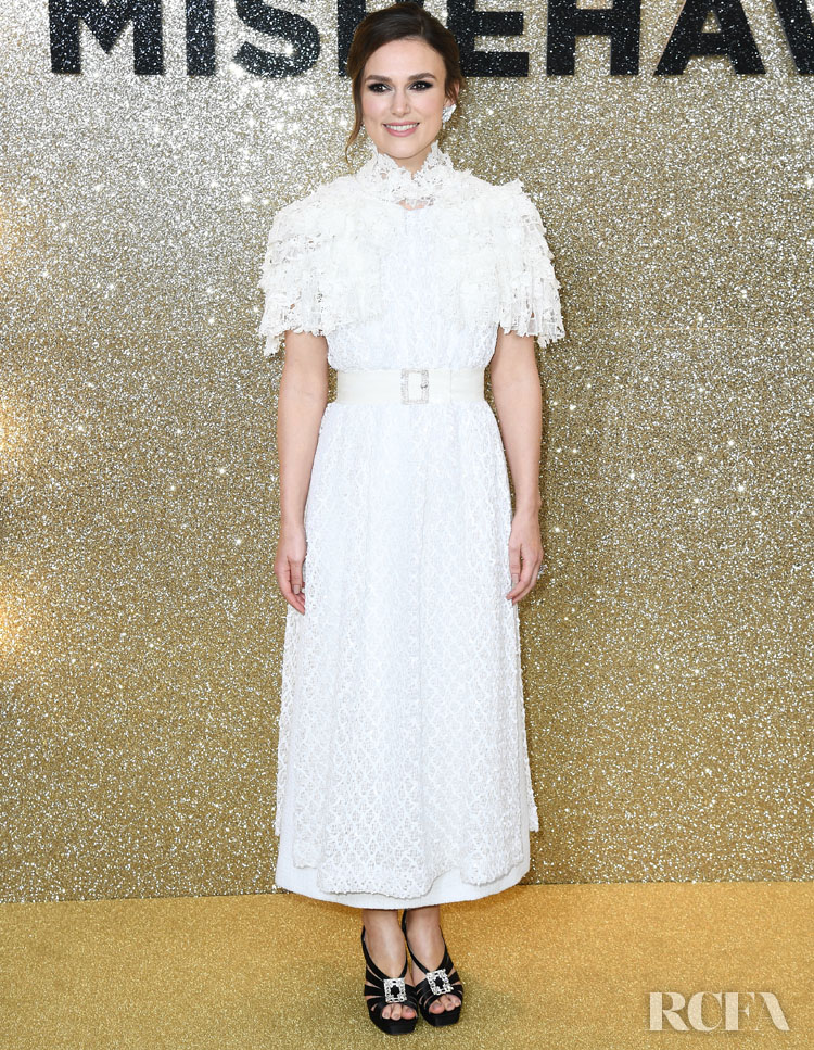 Keira Knightley Wore Chanel Haute Couture To The 'Misbehaviour' World Premiere