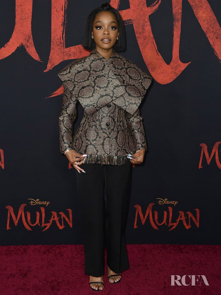 Marsai Martin Wore Nina Ricci To The 'Mulan' World Premiere