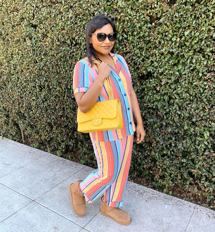 Mindy Kaling Brings Back The Pajama Trend