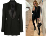 Rosie Huntington-Whiteley's Wardrobe.NYC X The Woolmark Company Jacket