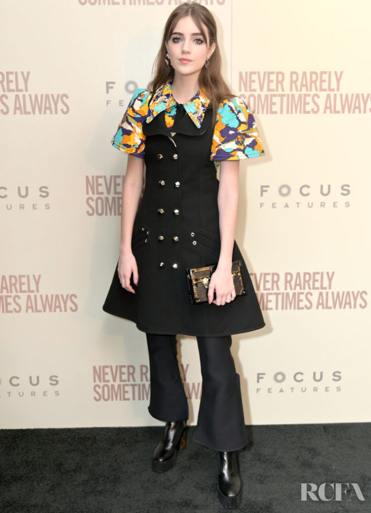 Talia Ryder Wore Louis Vuitton To The 'Never Rarely Sometimes Always' New York Screening