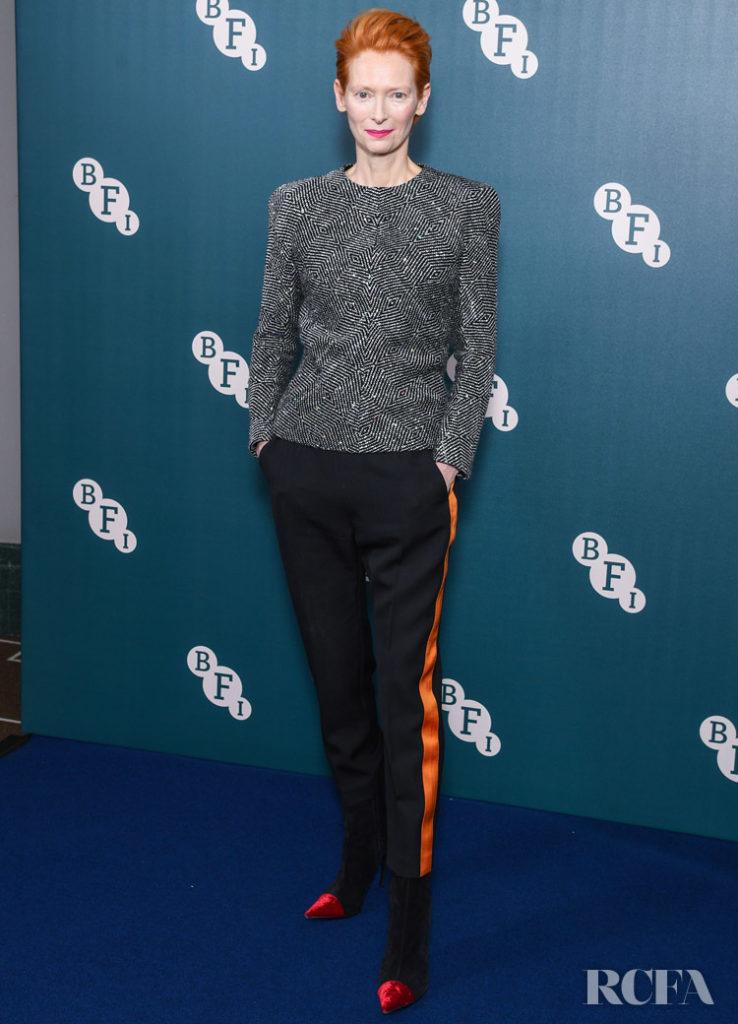 Tilda Swinton Wore Haider Ackermann To Receive Her BFI Fellowship Award