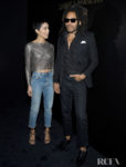Zoë Kravitz & Lenny Kravitz Front Row @ Saint Laurent Fall 2020