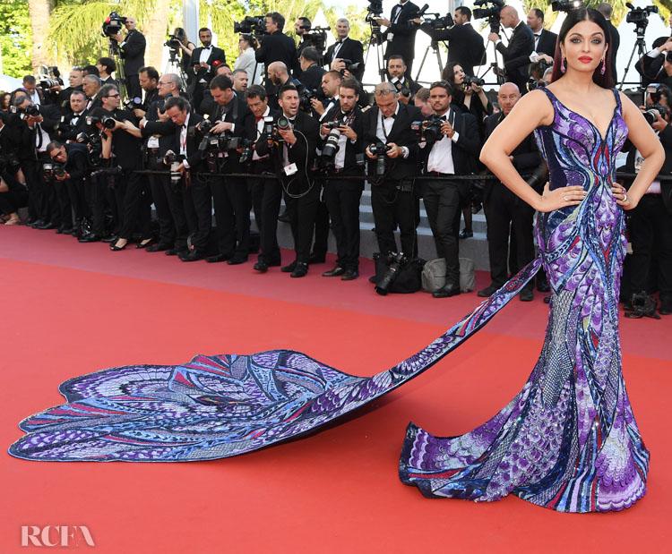 2018:  'Girls Of The Sun (Les Filles Du Soleil)' Cannes Film Festival Premiere in Michael Cinco Couture