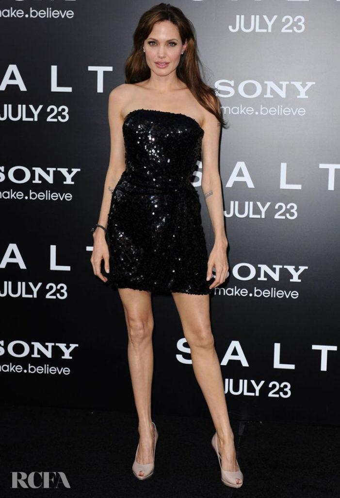 Angelina Jolie 'Salt' Japan Premiere in Emporio Armani