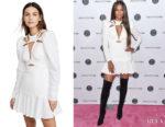 Ciara Acler Lapkus White Cut-Out Dress