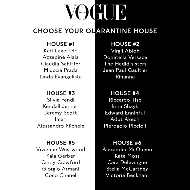 Choose Your British Vogue Quarantine House