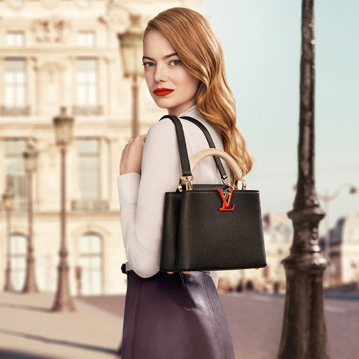 Emma Stone in Louis Vuitton's New Accessories Campaign
