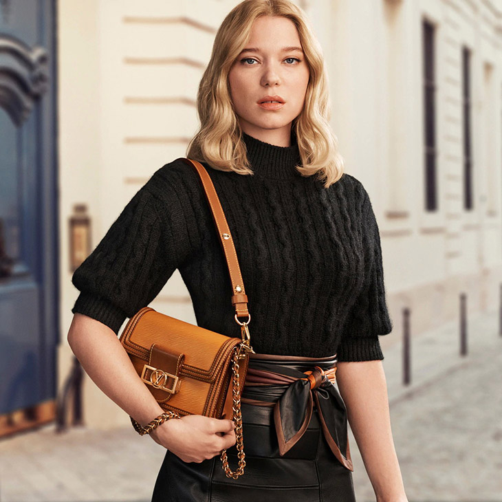Léa Seydoux In Louis Vuitton's New Accessories Campaign