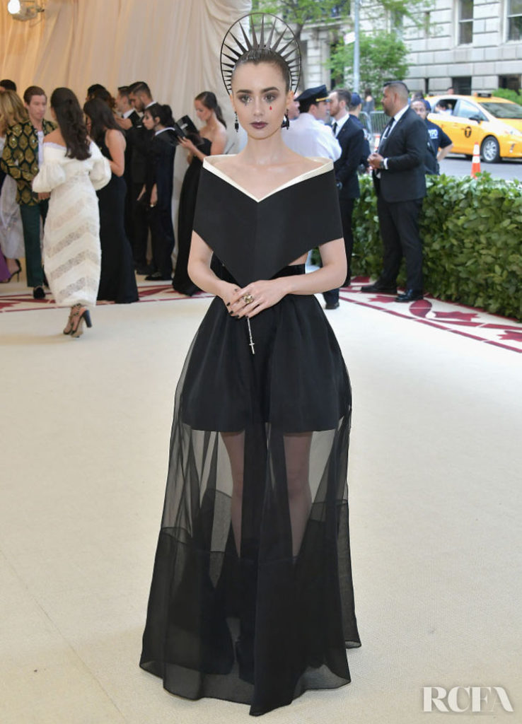 Lily Collins In Givenchy Couture – 2018 Met Gala