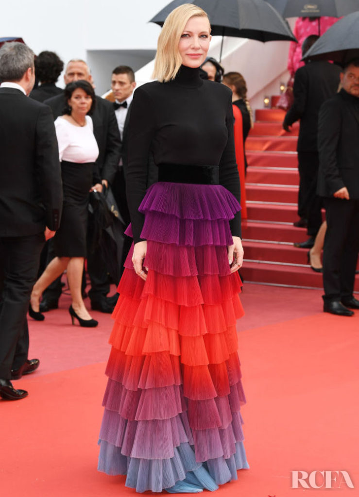 Clare Waight Keller's Most Memorable Moments For Givenchy - Cate Blanchett In Givenchy Haute Couture – 'Blackkklansman' Cannes Film Festival Premiere