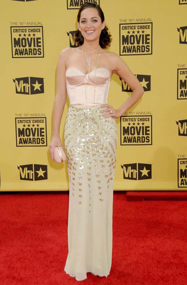Marion Cotillard In Christian Dior - 2010 Critic's Choice Awards