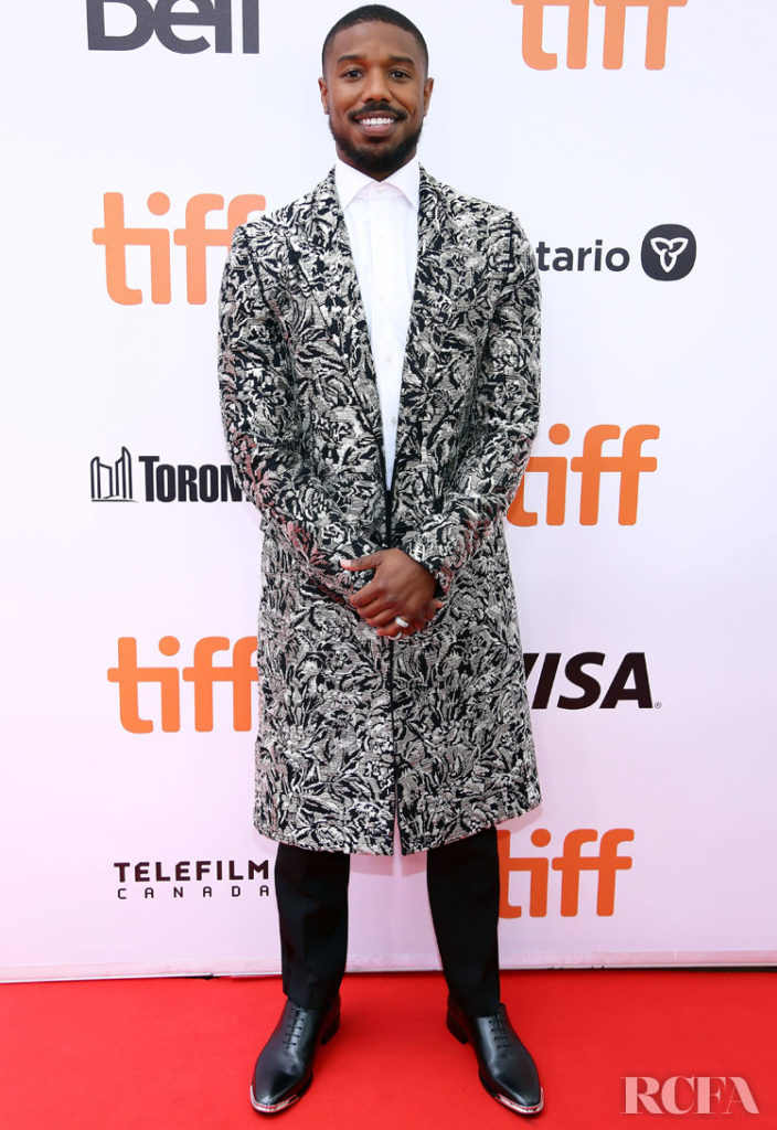 Michael B Jordan in Givenchy - Just Mercy' Toronto Film Festival Premiere