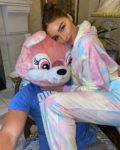Olivia Culpo's Ralph & Russo Chic Tie-Dye Quarantine Set