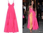 Rihanna's Jacquemus La Robe Manosque Pink Maxi Dress