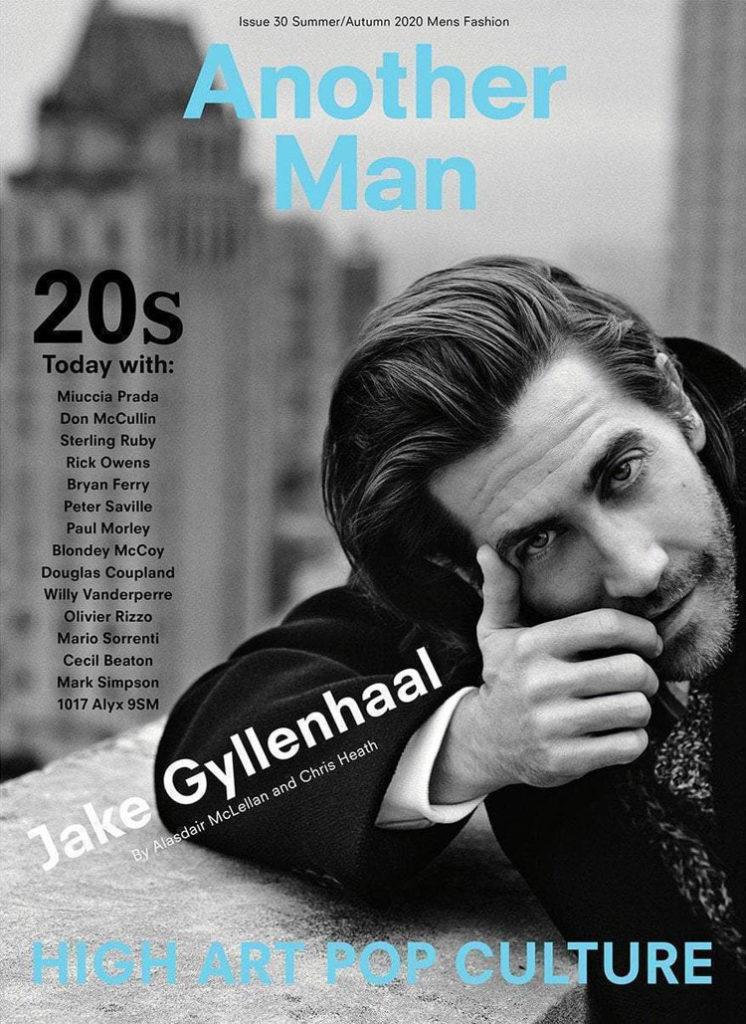 Jake Gyllenhaal For Another Man Summer/Autumn 2020