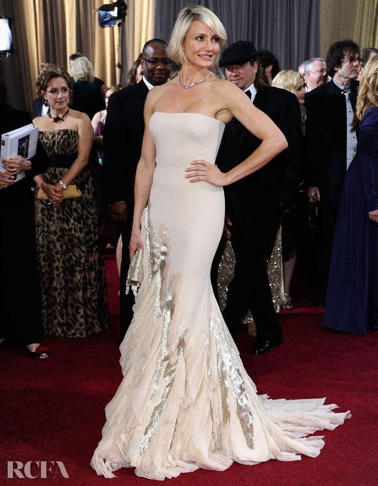 Cameron Diaz In Gucci Première – 2012 Oscars