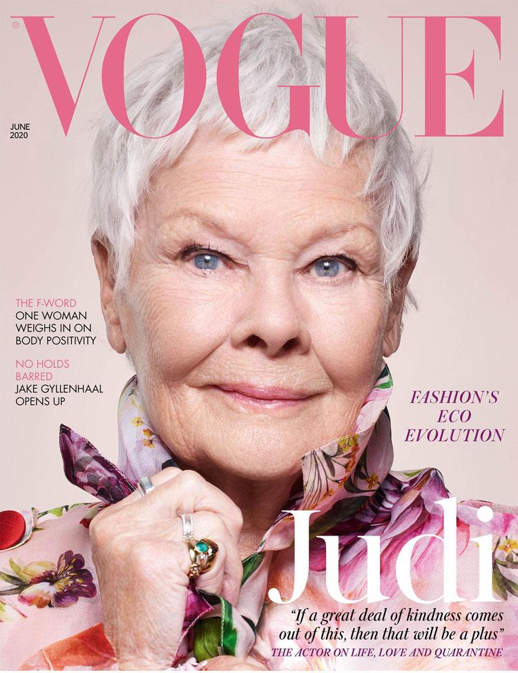 Dame Judi Dench For British Vogue June 2020 - Red Carpet Fashion Awards