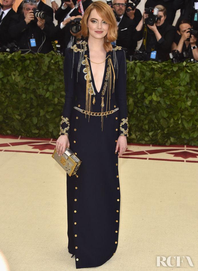Emma Stone in Louis Vuitton - 2018 Met Gala