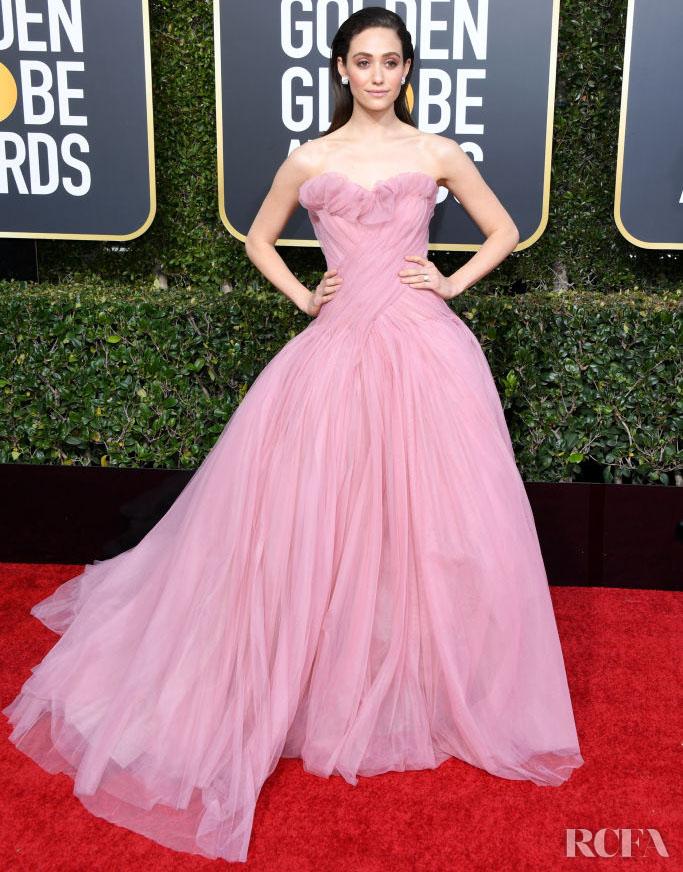 Emmy Rossum In Monique Lhuillier – 2019 Golden Globe Awards