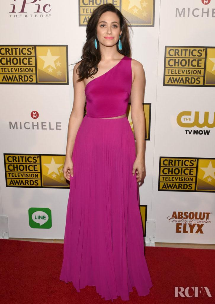Emmy Rossum in Monique Lhuillier – 2014 Critics' Choice Television Awards