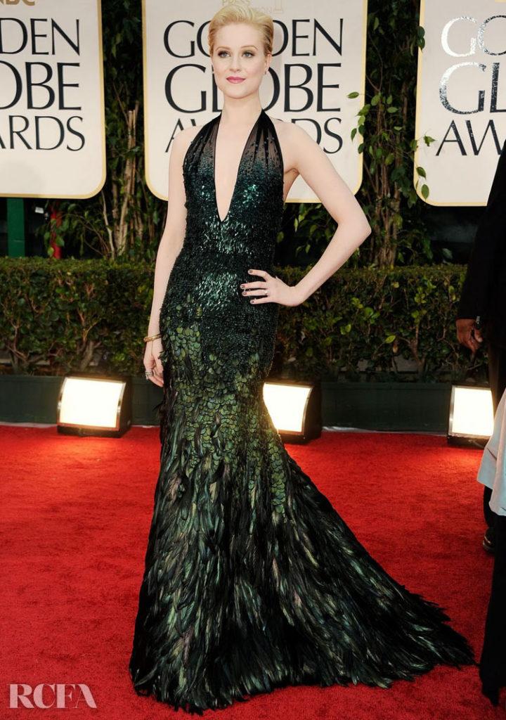 Evan Rachel Wood In Gucci Première – 2012 Golden Globe Awards