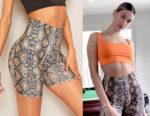 Hailey Bieber's SHEIN Snakeskin Print Biker Shorts