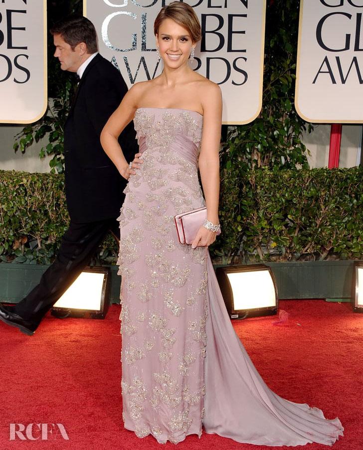 2. Jessica Alba In Gucci Première – 2012 Golden Globe Awards