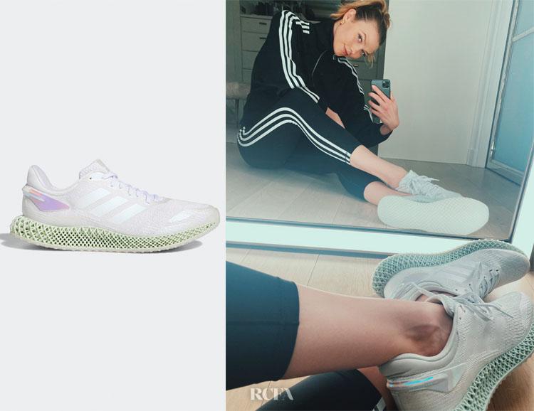 Karlie Kloss adidas 4D Run 1.0 Ltd Shoes & Believe This 2.0 3-Stripes 7/8 Tights
