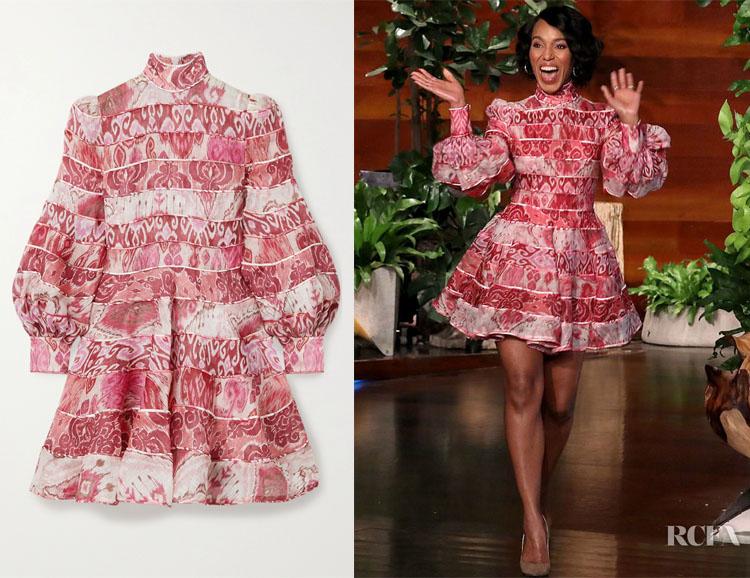 Kerry Washington's Zimmermann Wavelength Print Dress