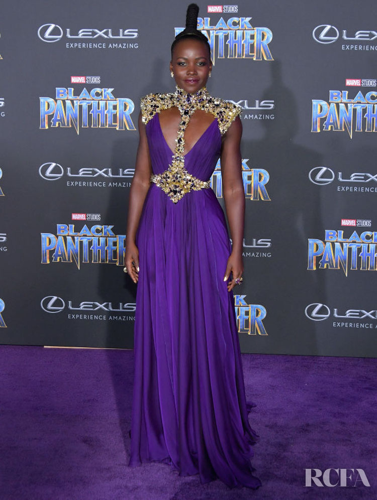 Lupita Nyong'o In Atelier Versace – 'Black Panther' World Premiere