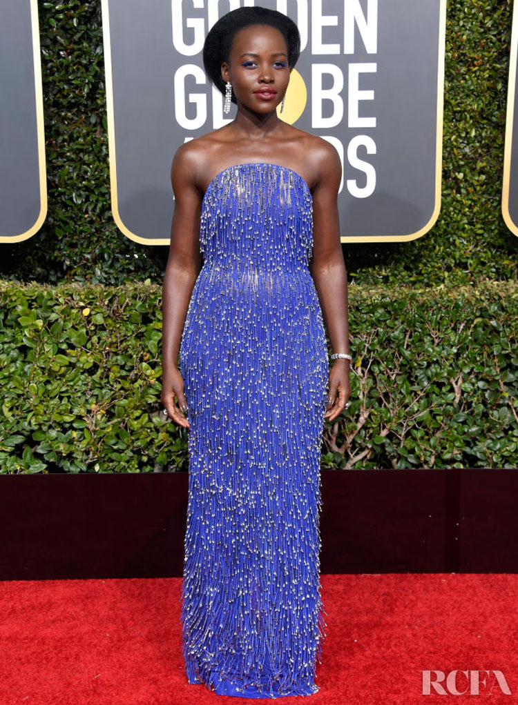 Lupita Nyong'o In Calvin Klein by Appointment – 2019 Golden Globe Awards
