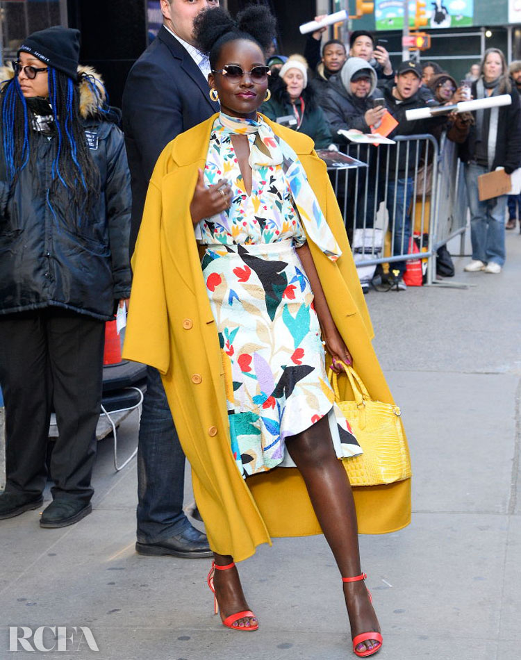 Lupita Nyong'o In Prabal Gurung & Mansur Gavriel – Good Morning America
