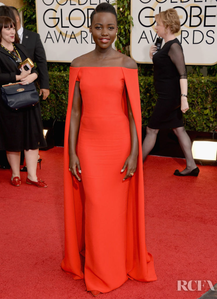 Lupita Nyong'o In Ralph Lauren – 2014 Golden Globe Awards