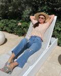 Miranda Kerr Shows Her Stripes In Quarantine