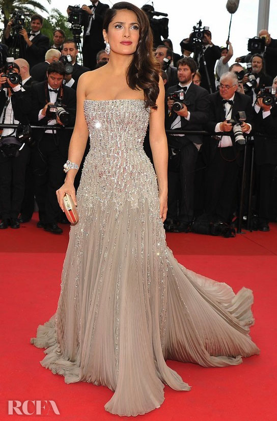 Salma Hayek In Gucci Première – 2011 Cannes Film Festival Opening Ceremony