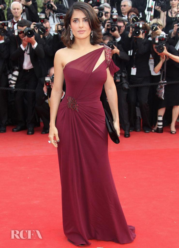 Salma Hayek In Gucci Première - 'Robin Hood' Cannes Film Festival Premiere - 2010